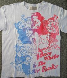 f1dd2128bf Original 1977 Vivienne Westwood / Malcolm McLaren 'Personal Collection  Seditionaries' label 'Snow White & the Sir Punks' t shirt - SOLD